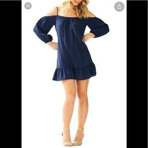 Lilly Pulitzer open shoulder dress M